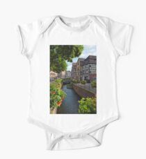 Water Canal in Old Town of Colmar One Piece - Short Sleeve
