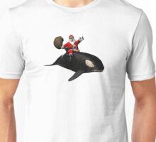 Santa Claus Riding An Orca Unisex T-Shirt