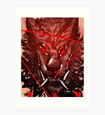 Thrown to the Wolf Art Print