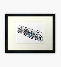 Blue Bicycle  Framed Print
