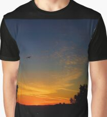 Bird In Flight At Sunset Graphic T-Shirt