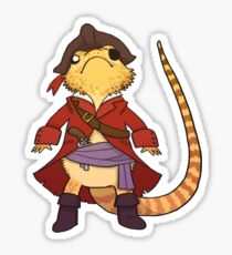 Not a wizard; Pirate Charles! Sticker