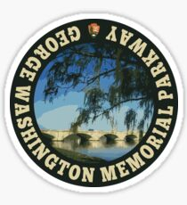 George Washington Memorial Parkway circle Sticker