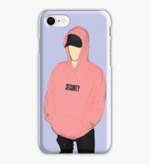 """Justin Bieber Pink """"SECURITY"""" Hoodie Drawing iPhone Case/Skin"""