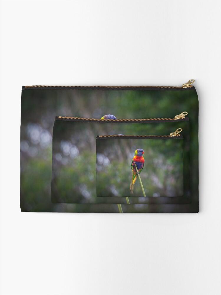 Alternate view of Bird on a wire Zipper Pouch