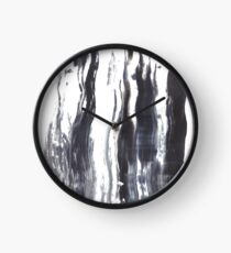 Thick Acrylic Paint In Black And White Clock