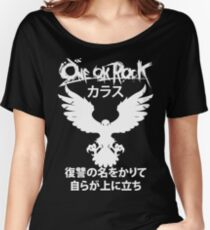 Karasu (カラス) [White] Women's Relaxed Fit T-Shirt
