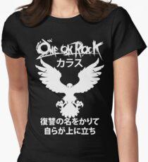 Karasu (カラス) [White] Women's Fitted T-Shirt