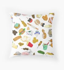 Happiest food on Earth Throw Pillow