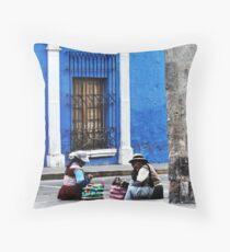 Blue Walls in Santa Catalina ! Throw Pillow