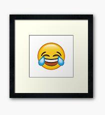 Laughing Crying/Tears of joy Emoji Framed Print