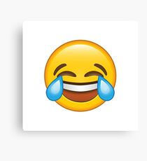Laughing Crying/Tears of joy Emoji Canvas Print