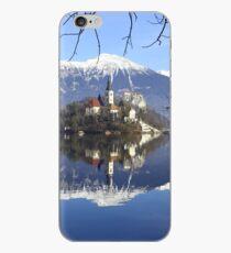 Church on island at Lake Bled Slovenia iPhone Case