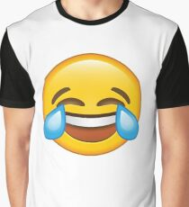 Laughing Crying/Tears of joy Emoji Graphic T-Shirt