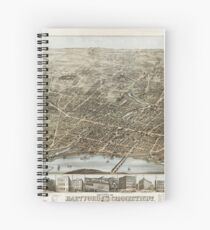 Hartford Panorama 1877 Spiral Notebook