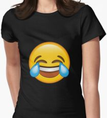 Laughing Crying/Tears of joy Emoji Women's Fitted T-Shirt