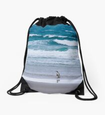 Yellow-eyed penguin solitude Drawstring Bag