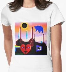 PINK FLOYD ECLIPSED BATTERSEA Women's Fitted T-Shirt