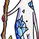 Blue Crystal Staff by Leigh Ann Gagnon