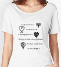 Love is patient...(with hearts) Women's Relaxed Fit T-Shirt
