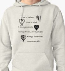 Love is patient...(with hearts) Pullover Hoodie