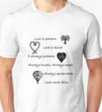 Love is patient...(with hearts) Unisex T-Shirt
