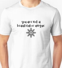 Fight Club - You are not a beautiful or unique snowflake T-Shirt