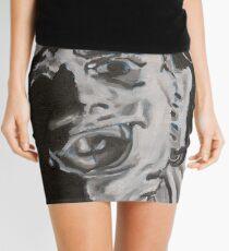 Leather face Mini Skirt