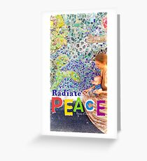 Radiate PEACE - Mother and Son Greeting Card