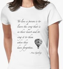 Beautiful quote on love Women's Fitted T-Shirt