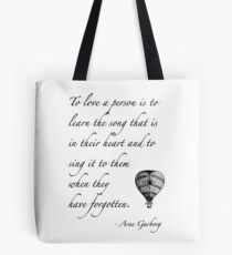 Beautiful quote on love Tote Bag