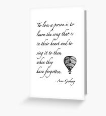 Beautiful quote on love Greeting Card