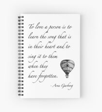 Beautiful quote on love Spiral Notebook