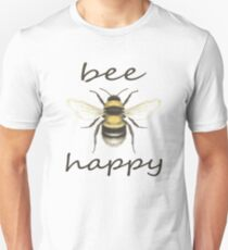 Bee Happy Unisex T-Shirt