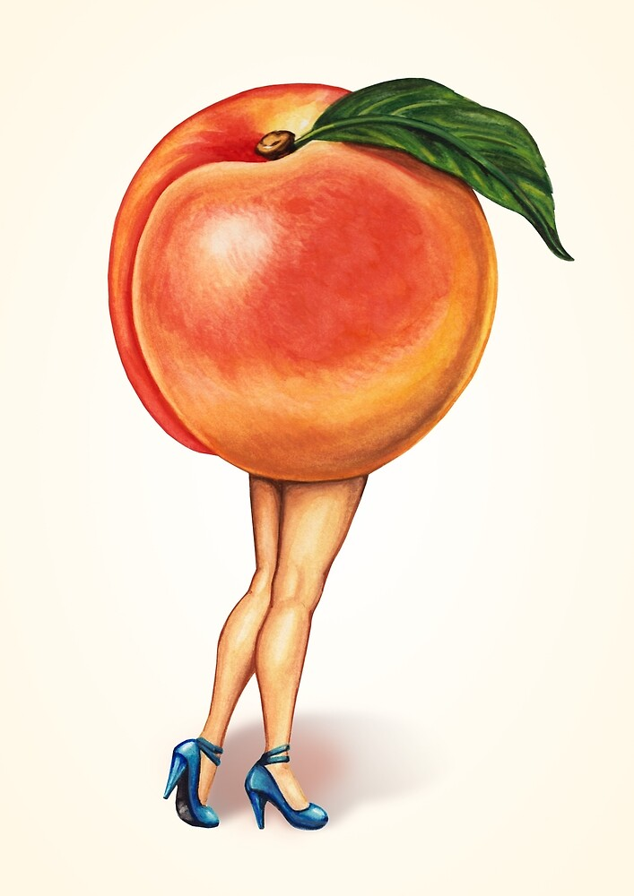 Fruit Stand - Peach Girl by Kelly  Gilleran