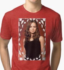 Buffy Angel Faith Eliza Dushku 2 Tri-blend T-Shirt