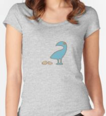 Blue bird with eggs Women's Fitted Scoop T-Shirt