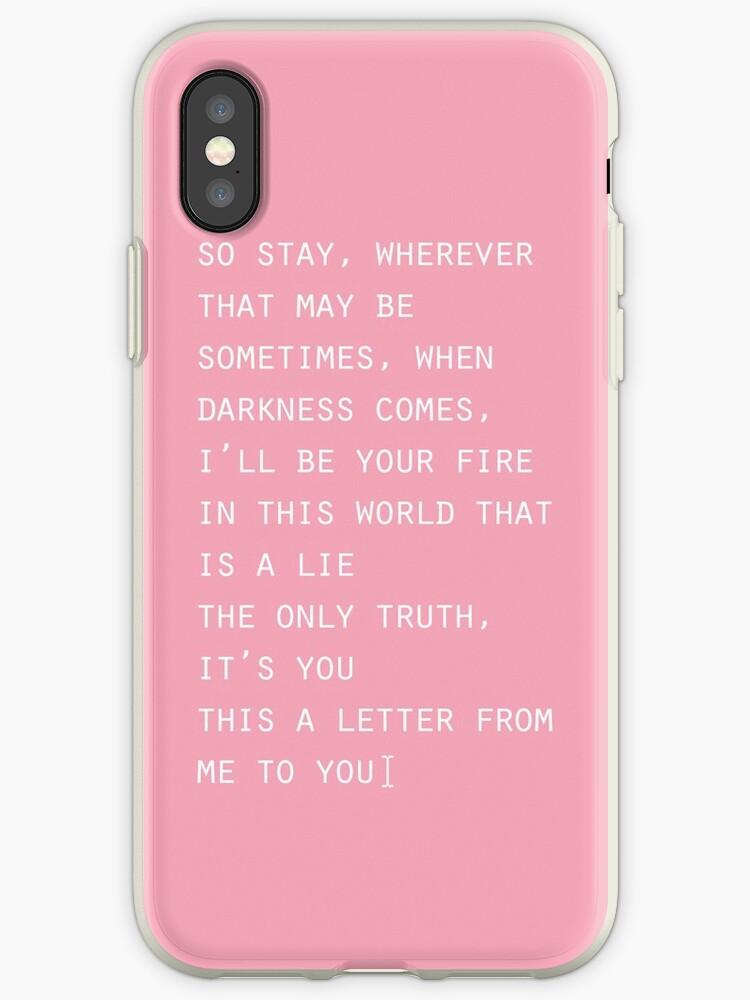 'Blackpink Stay Lyrics ' iPhone Case by Abitofkpop