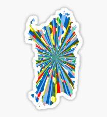 Sardinia color burst Sticker