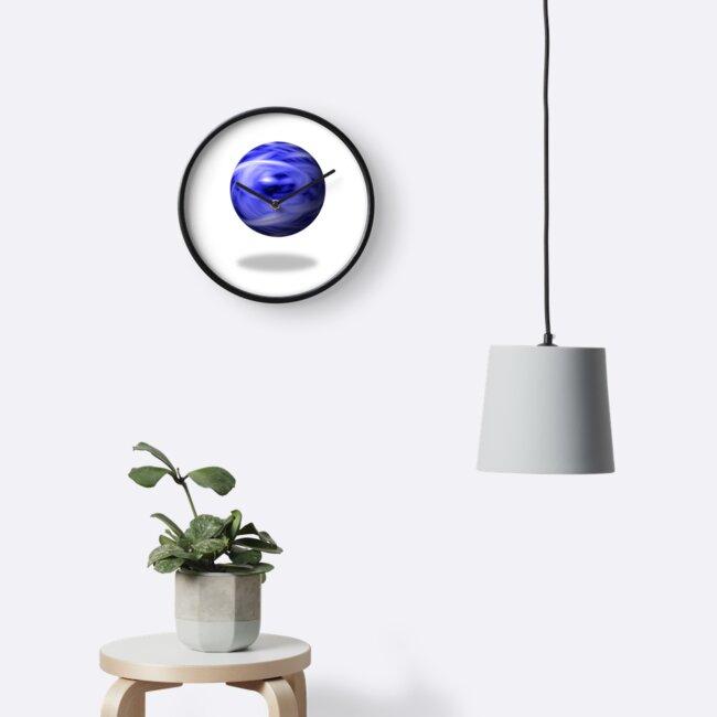Blue Flame Globe by Henrik Lehnerer