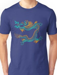 Chinese Dragon (orange/aqua) Unisex T-Shirt