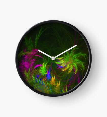 Jungle #fractal art 2 Clock