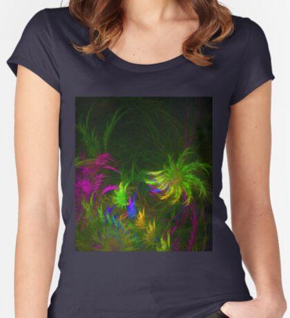 Jungle #fractal art 2 Women's Fitted Scoop T-Shirt