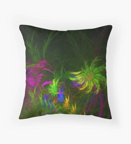 Jungle #fractal art 2 Throw Pillow