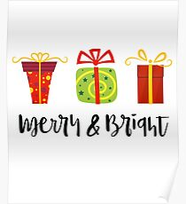 Merry and Bright - For Christmas Poster