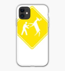 Cross Deer Crossing iPhone Case