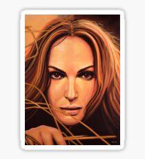 Natalie Portman Painting Sticker