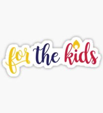 For The Kids - HuskyTHON  Sticker