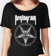 Pentagram- Relentless (for black shirts) Women's Relaxed Fit T-Shirt