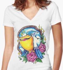 Pelipper Women's Fitted V-Neck T-Shirt